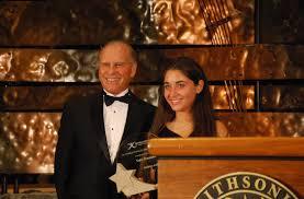 Bob Davidson presents Sofia Bramante with the 2014 Davidson Fellow Award – $10,000 Scholarship.