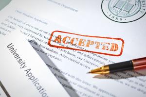 A program acceptance letter.