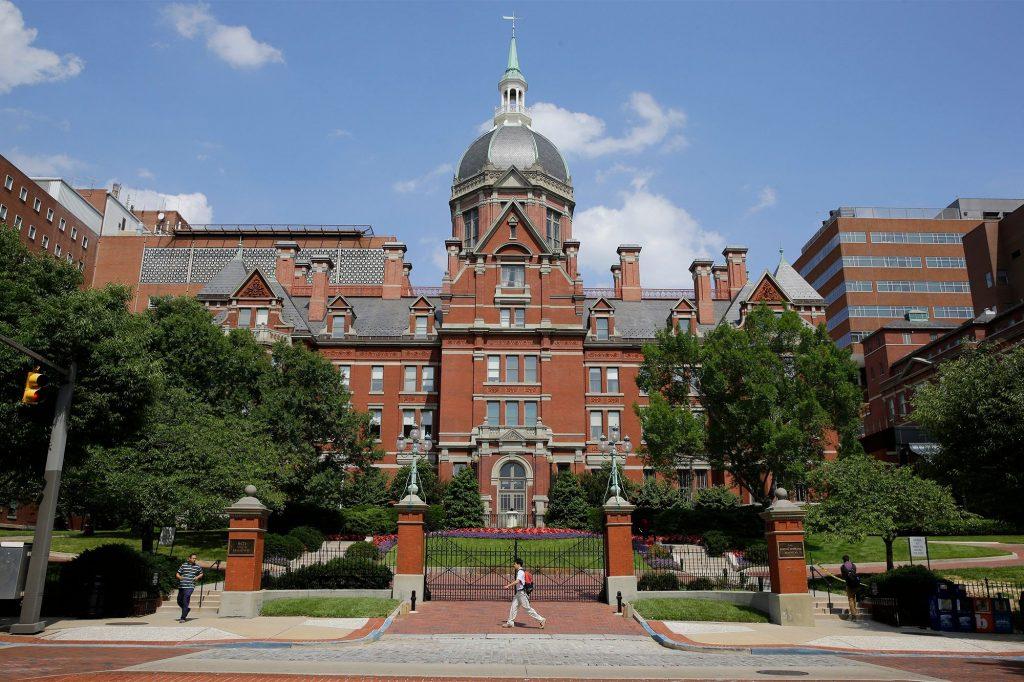 The Johns Hopkins hospital.