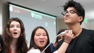High schoolers exploring an area of interest- medicine.