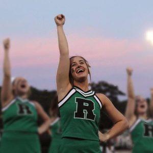 Cheer captain demonstrates leadership in her team