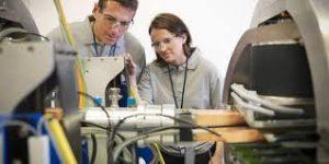 Physics Bowl participants doing an experiment