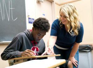A mentor guiding a student